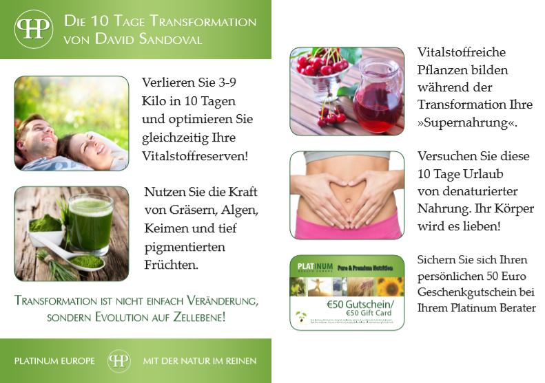Platinum 10-Tage-Transformation